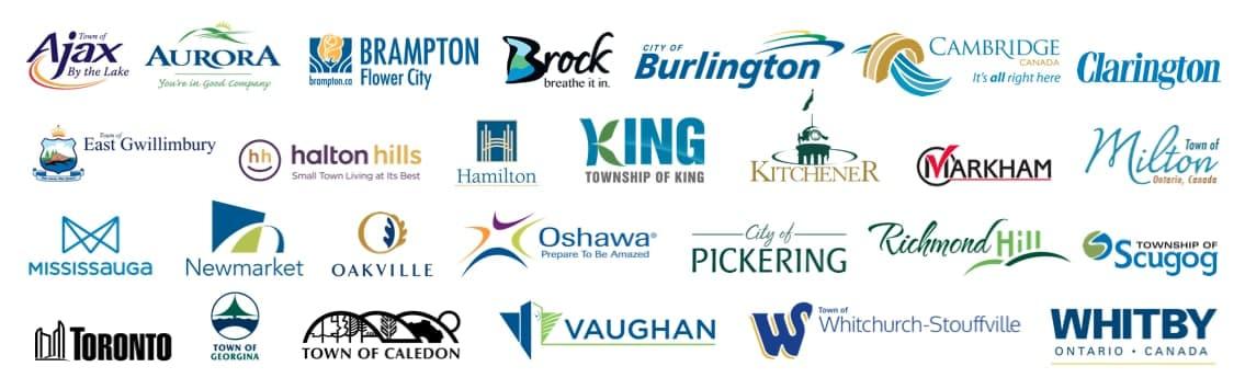 Ontario city logo real estate